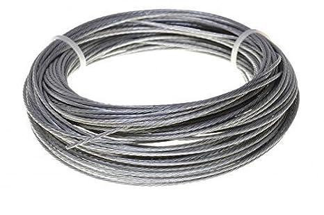 60m Drahtseil EDELSTAHL Stahlseil 5mm 7x7 Edelstahldrahtseil INOX V4A A4 rostfrei Gel/änder Seil Draht Stahl Edelstahlseil