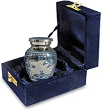 (1 Keepsake Urn) - Wings of Love Mini Keepsake Urn for Human Ashes - Qnty 1 - Beautiful and Timeless Find Comfort Everytime You Look at This Small High Quality Cremation Urn - with Velvet Case