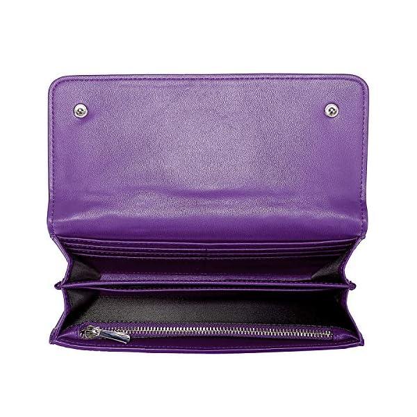 PIJUSHI Women Leather Wallet Embossed Crocodile Clutch Wallet Card Holder Organizer 3