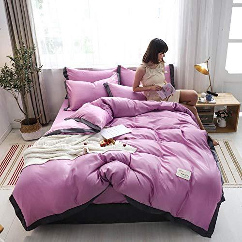 juegos de sábanas 160x200 verano,Nordic Feng Shui Wash Silk Skin y cómodo kit de ropa de cama de cuatro piezas es manga de una sola almohada estudiante dormitorio anti-fruta anti-arrugas-Volar_1,8 m