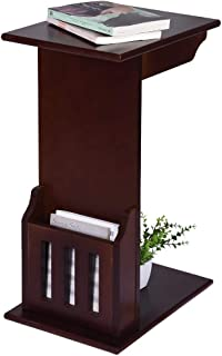 AOmahh Bedside Table Magazine Snack Table Sofa Side End Table End Stand Desk Coffee Tray Side Table