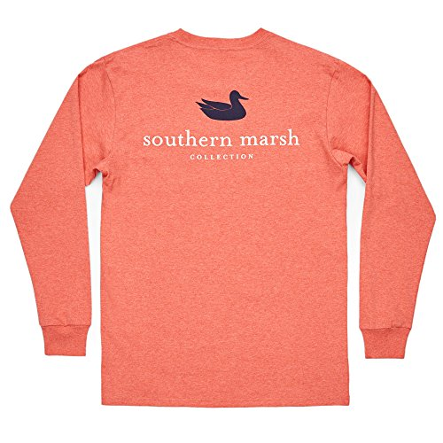 Southern Marsh Ls Authentic, Washed Red, XXX-Large