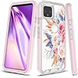 Google Pixel 4a Case (NOT for Google Pixel 4), Onyxii Graphic Design Shockproof Impact Resistant Protective Full-Body Rugged Clear Hybrid Bumper Case for Google Pixel 4a (Pink Flower)