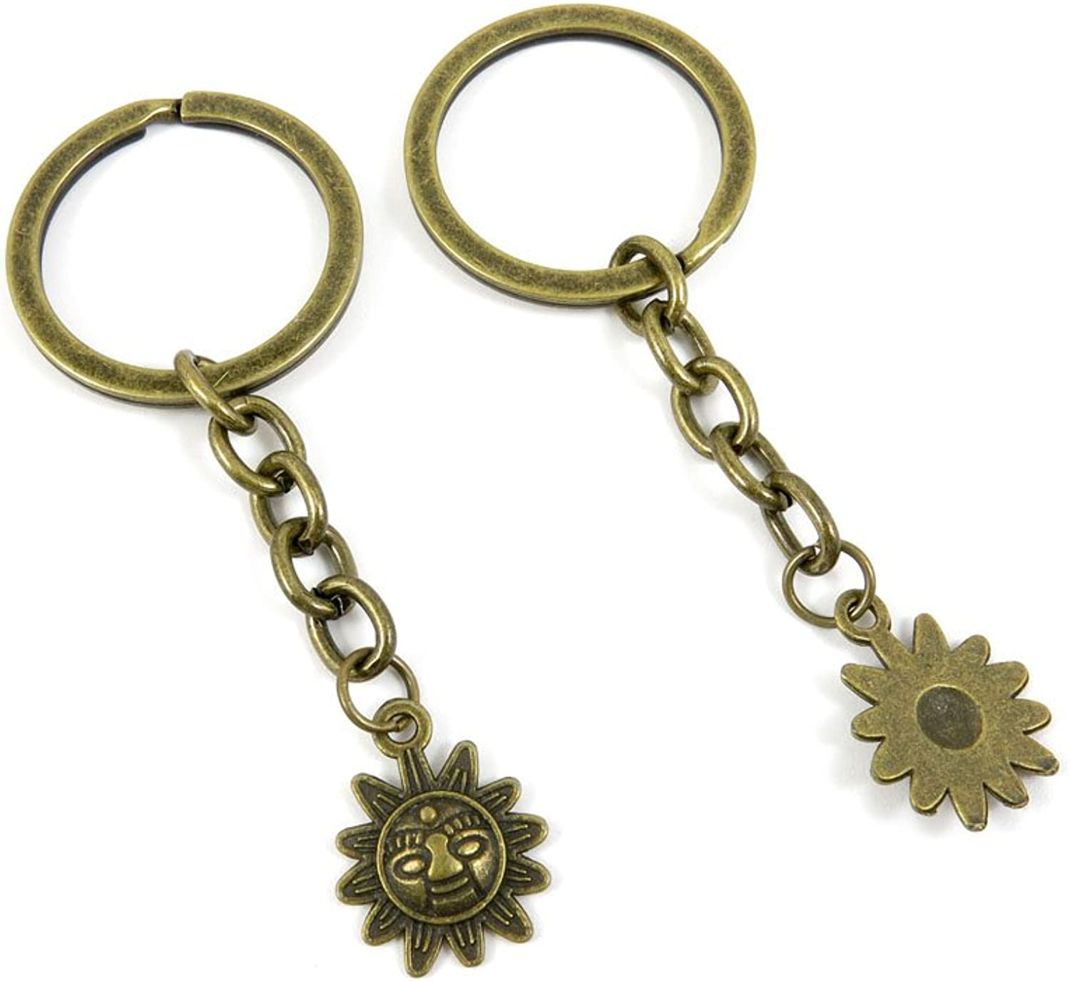 240 Pieces Fashion Jewelry Keyring Keychain Door Car Key Tag Ring Chain Supplier Supply Wholesale Bulk Lots S1FD2 Titan Sunflower