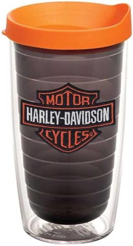Harley Davidson Tervis Orange Bar Shield 16oz Tumbler Black 1074914