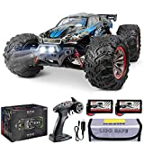 Hosim Large Size 1:12 Scale High Speed 46km+/H 4WD 2.4Ghz Remote Control Truck 9156, Radio Controlled Off-Road RC Car Electronic Monster Truck R/C RTR Hobby Grade Cross-Country Car (Blue)