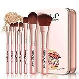 7pcs fabricar Herramientas cepillos Maquillaje cepillos Suaves de Fibra Fundación Powder Blush Pincel Corrector Contorno de ceja cosmético cepilla Kabuki precisión Cara cepillos de Belleza (Rosa)