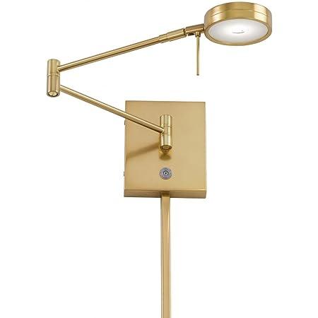George Kovacs P4308 248 1 Light Led Swing Arm Wall Lamp Honey Gold Amazon Com