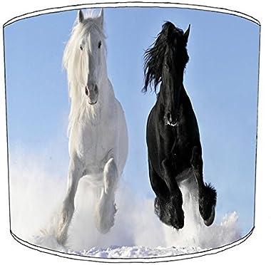 Premier Lighting Ltd 10 inch chevals Pony Equestrian Print Abat-Jour 7 pour Un plafonnier