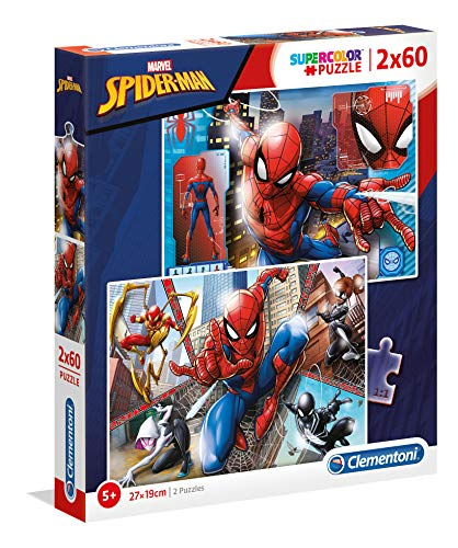 Clementoni- 2 Puzzles 60 Piezas Spider-Man, Color Multicolor. (21608.6)