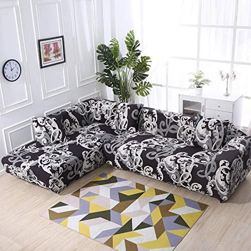 WXQY Housse de canapé géométrique, Housse en Tissu de Coton, Housse de canapé, Housse de canapé élastique de Salon, Housse de canapé Chaise Longue en Forme de L A18 1 Place