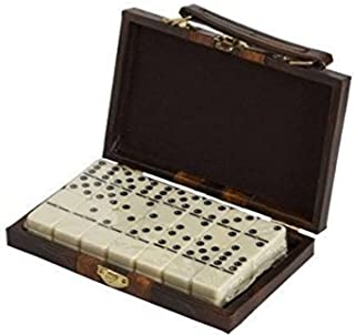 Double 6 Standard Size Dominoes in Attache Case with Spinner