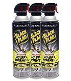 Black Flag (3-Pack Wasp & Hornet Killer Jet Stream Bug Pest Bee Spray 14oz
