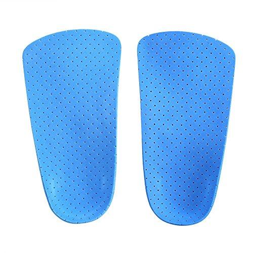 Orthopädische Schuh-Einlagen, halbe Länge, Unterstützung des Fußgewölbes und der Ferse, orthopädische Einlegesohlen für Männer und Frauen, Fußkorrektur (M)