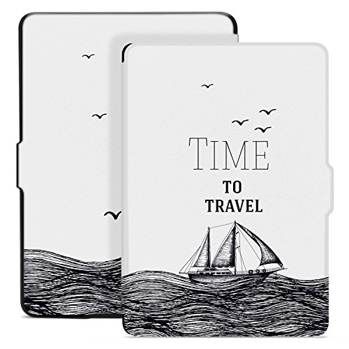 Ayotu Hülle für Kindle Paperwhite-Case Cover Mit Auto Sleep/Wake für Amazon Kindle Paperwhite 2012/2013/2016/2015 3.Generation(Nicht geeignet für das Modell der 10. Generation 2018),Reisezeit
