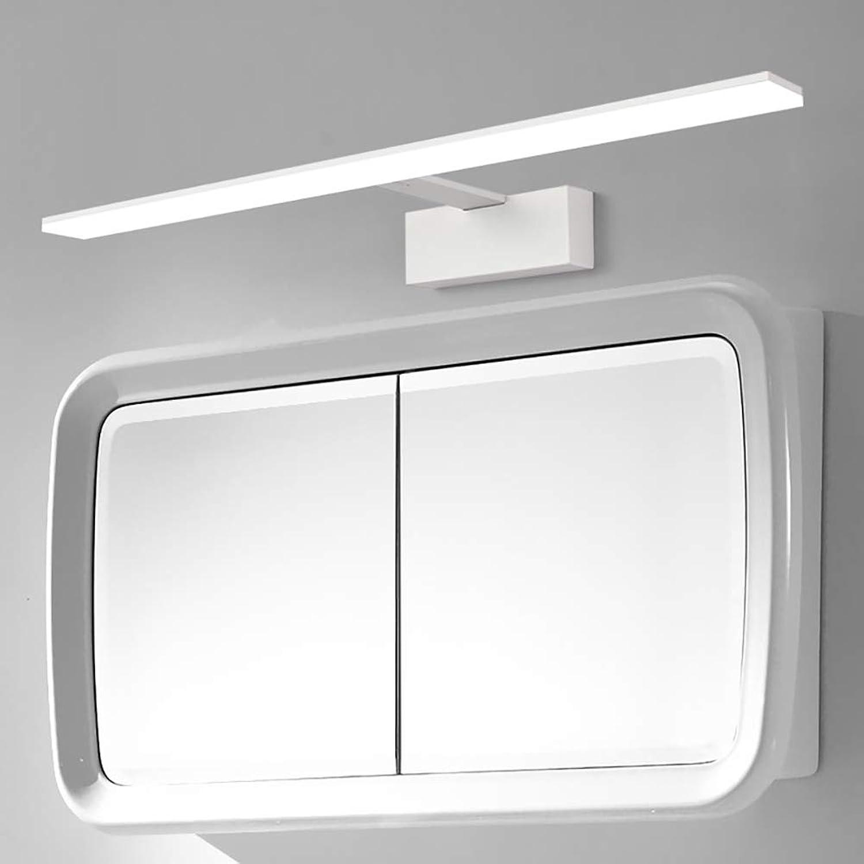 Spiegelleuchte vorne LED-Badleuchten, WC-Spiegelleuchte 42 52 62 72   82CM Wei Schwarz Wasserdichter Antibeschlag Schwarz Wei Schminktisch Make-up-Lampe Simple Nordic-Weiß-72cm