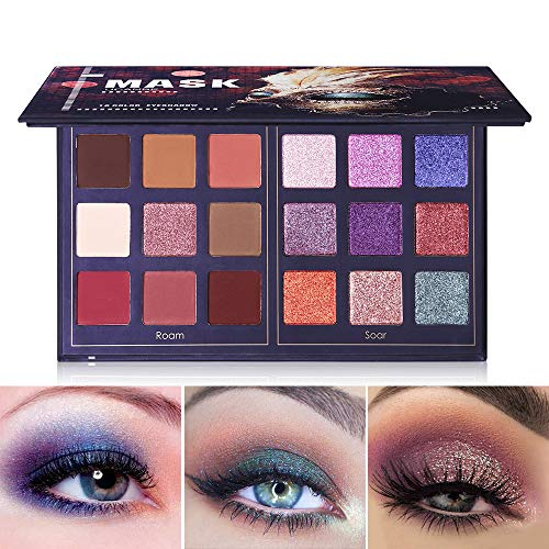 Pro 18 Colors Fashion Eyeshadow Palette Makeup Highly Pigmented Shimmer and Matte Blendable...