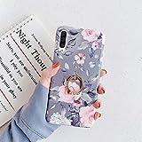 Cover Samsung Galaxy A70,Custodia Galaxy A70 Silicone Morbida con Motivo Fiori Floreale,JA...