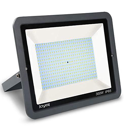 300W LED Strahler Außen loyal LED Scheiwerfer,27000LM Superhell Fluter,IP66 wasserdicht Industriestrahler,Kühles Weiß Flutlicht-Strahler,Außen-Leuchte Flutlicht-Strahler für Außenbereich …