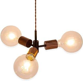 (セーディコ)Cerdeco 3灯式ペンダントライト 木工職人の心意気は宿る 美しいディテール ウォールナット製 ソケット 無駄のないデザイン 天井照明 LED電球対応 インテリア照明 引掛けシーリング用 PDT30M