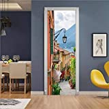 Creative 3D Town Stairdoor Paste Papel Restaurado Dormitorio Habitación Pasillo Liquidación Secreta Etiqueta Decorativa Papel Tapiz Etiqueta Sart