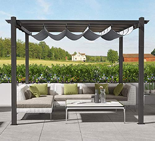 Tribesigns 13x10ft Patio Pergola Canopy for Outdoor Garden, Aluminum Grape Trellis Pergola Canopy Replacement, Sun Shade Shelter with Waterproof Polyester Cover (13'Lx10'Wx8'H, Gray)