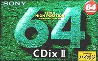 SONY カセットテープ CDix II 64分 ハイポジ C-64CDX2B