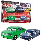 Disney Cars Cast 1:55 - Selección Modelos de Vehículos Doble Pack, Cars Doppelpacks:Dan Sclarkenberg & Kim Carllins