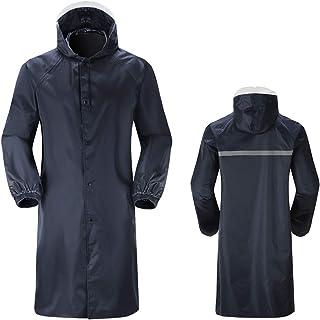 comprar comparacion N NEWKOIN - Poncho de lluvia largo resistente al agua con cierre de cordón, tiras reflectantes, resistente a la abrasión, ...