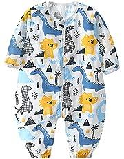 Bebé Saco de Dormir con Pies Pijama 0.5Tog Verano Mono Muselina de Algodón Transpirable Ropa de Dormir Mamelucos Niños Niñas 0-5 años