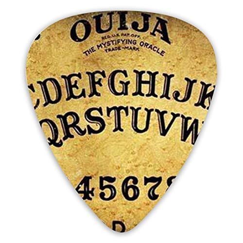 NiYoung Cool Guitar Pick Celluloid Guitar Plectrums Unique Dangerous Magical Game Ouija Board Pattern Guitar Picks Luxury Guitar Picks 0.46mm/0.71mm/0.96mm