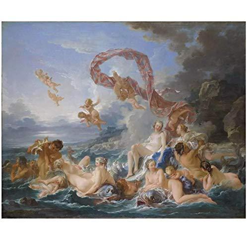 François Boucher le triomphe de Vénus Art impression affiche rétro peintures murales toile pour la décoration intérieure Art mural 28x36 pouces sans cadre