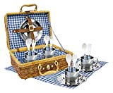 Tachan - Set picnic vichy en cesta de mimbre (CPA Toy Group 20517) , color/modelo surtido
