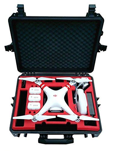 Koffer / Transportkoffer von MC CASES passend für DJI Phantom 2 Vision und Vision Plus - mit Platz für 6 Akkus