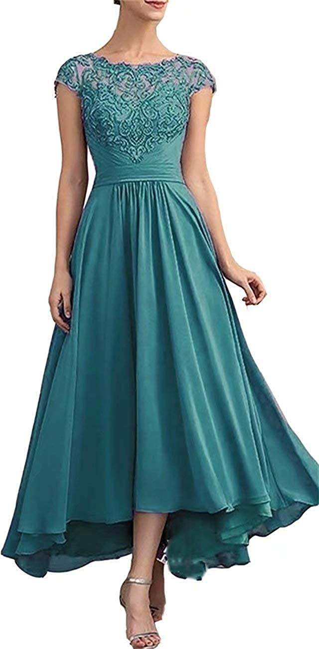 Mother of The Bride Dress High Low Formal Evening Dresses for Wedding Chiffon Mother Dress