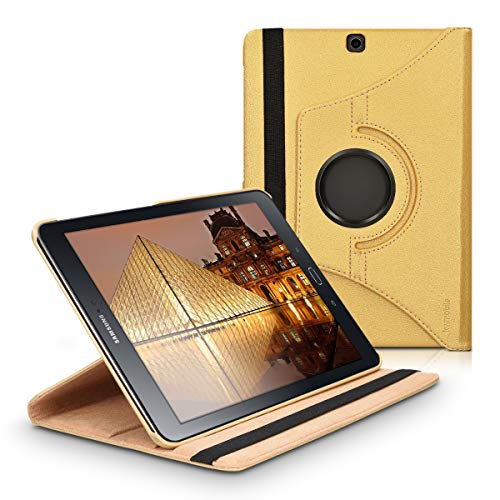 kwmobile Hülle kompatibel mit Samsung Galaxy Tab S2 9.7-360° Tablet Schutzhülle Cover Case Gold