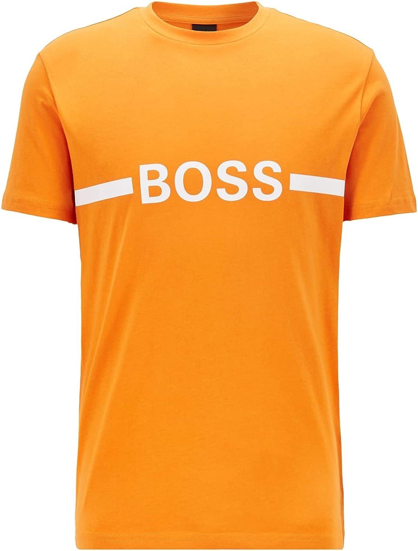 Hugo Boss Men's Rash Guard, Solar Orange, XXL