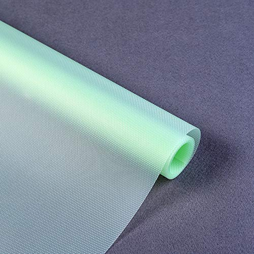 HLAA Revestimiento laminado antideslizante, lavable, mesa de cocina para nevera, forro impermeable, cajón EVA, antiincrustante y antihumedad (transparente 3 rollos 150 x 30 cm)