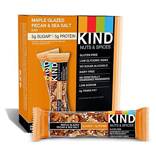 KIND Nuts & Spices, Maple Glazed Pecan & Sea Salt, 12-Count Bars