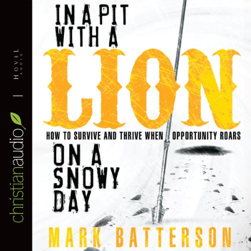 In a Pit with a Lion on a Snowy Day audiobook cover art