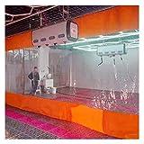 GFSD Lona de Aislamiento térmico Lona de PVC de 0.5mm Cortina Impermeable Periféricos de terraza Pérgola/Porche/balcón Exterior con Ojales Multiusos (Color : Clear Orange, Size : 3x4m)