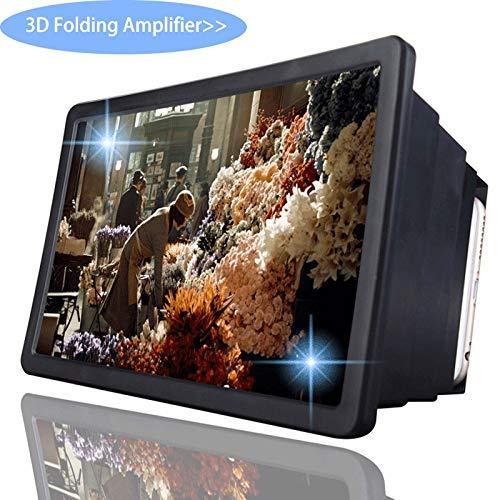 YKX4XJ08屏幕放大镜用于手机,折叠屏幕放大镜电影,视频,游戏(白色)