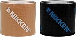 Nikken 1 Black 1 Peach DUK Dynamic Underlayer Kinetic Tape - Produces Warmth from Natural Energy - Helps Reduce Tissue Pressure and Provide Comforts to Stress Muscle and Joints, Sticks for Days