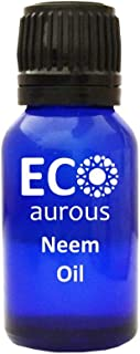 Eco Aurous Neem Oil 100% Pure & Natural Essential Oil | Neem Essential Oil | Neem Oil For Plants | Pure Neem Oil | Cold Pressed Neem Oil | Neem Oil For Skin | Organic Neem Oil | Neem Oil For Hair | Neem Oil For Acne | Neem Oil For Scabies 1000 ml