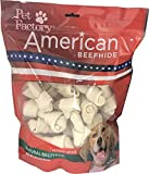 Pet Factory American Beefhide Chews 28211 Rawhide Natural Flavor 4-5' Bones for Dogs. 22 Pack. A Great Natural Source for Protein and Assists in Dental Health. 22 Bones in a Large Resealable Package