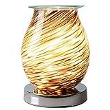 Be-Creative Desire Aroma - Bruciatore elettrico per cera 3D Touch Lampada notturna per crostata con luce notturna (ovali 3D glitterati)