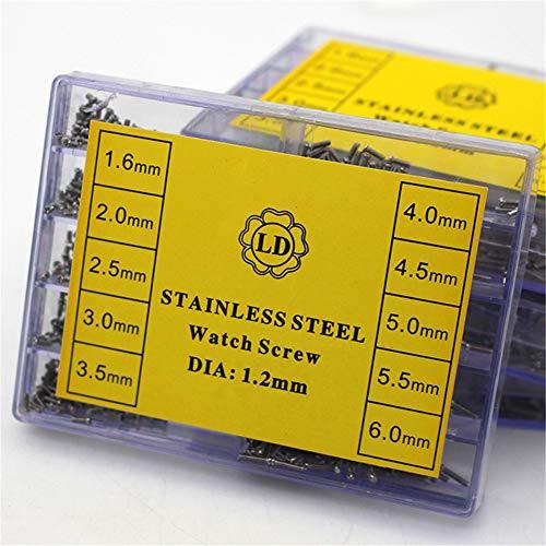 Filfeel 1.6-6.0mm Kleine Edelstahl Schrauben für Uhren Schraube Uhrmacherbedarf Uhrmacherwerkzeug