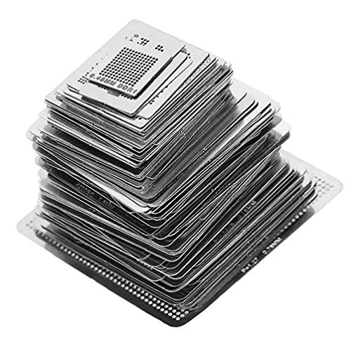 BGA Plantillas Plantilla de malla de acero universal CPU de reparación de soldadura Herramientas 130pcs
