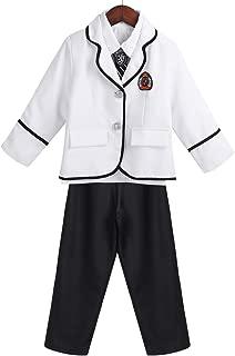 Freebily British Korean Japanese Dchool Uniform Kid Boys' Winter Clothing for School uniforme Escolar Costume