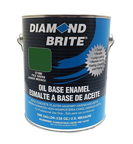 Diamond Brite Paint 31300 1-Gallon Oil Base All Purpose Enamel Paint Tile Green